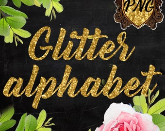 Digital Alphabet Gold Glitter Clipart PNG Graphics Letters letters font cliparts transparent