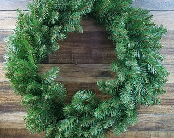 "Artificial Holiday Wreath 23"" Ready to decorate"
