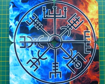 Vegvisir Coasters. A set of 4 Vegvisir Coasters. Viking Compass coasters. Gift for a Viking.
