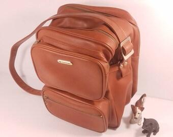 Vintage Samsonite Shoulder Bag, 14x10x9, Vinyl Faux Leather, Excellent Condition