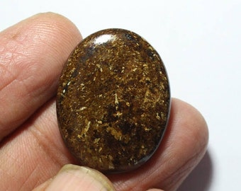 40% Off, Natural BRONZITE Gemstone, 28x22x5 mm Size, Oval Shape Gemstone, Smooth Loose Cabochon, +++ AAA Quality Bronzite Bz#1305
