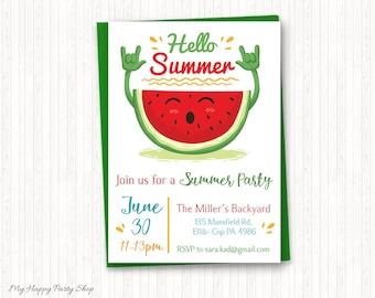 Picnic theme invite etsy summer party invitation schools out celebrate summer pool party picnic invitation stopboris Choice Image