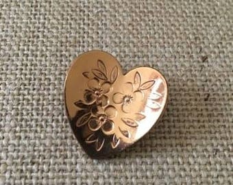 Heart Etched Pin