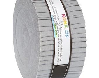 Kona Cotton 2.5-inch Strips Roll-Up - Ash - Robert Kaufman RU-195-40