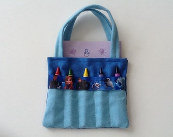 Children's Crayon Bag and Customized Paper, Birthday Party Favor