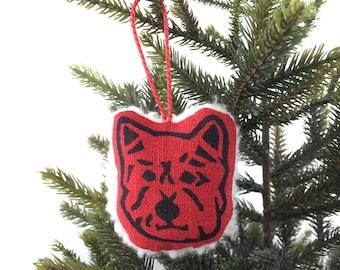 Fleecy Westie Christmas Decoration