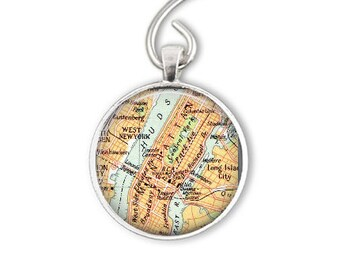 New York Christmas gift for him, Manhattan New York, Central Park map Ornaments or Keychain, Manhattan Ornament Gift, Bottle Opener Keychain