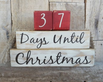 Countdown  blocks, days until (weeks until)  Christmas, Christmas countdown, Christmas decoration, Christmas blocks, Holiday blocks
