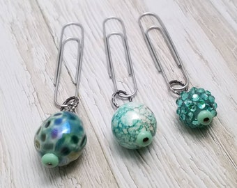 Paperclip Dangle Set, Beaded Paperclip Dangles, Beaded Paperclips, Planner Dangles