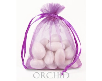 30 Orchid Organza Bags, 6 x 9 Inch Sheer Fabric Favor and Gift Bags