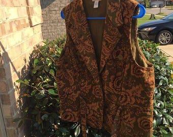 New Harolds paisley corduroy vest