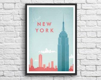 Affiche Art-Poster 50 x 70 cm - New York Travel Poster