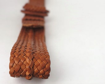 Kangaroo Leather Plaited Belt with Spanish Laced Rings