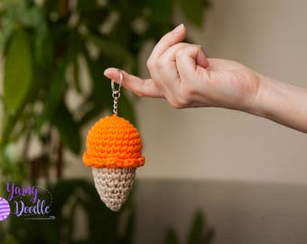 Crochet Ice Cream Come Keychain