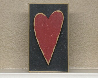 TALL BLOCK HEART for valentine and home decor