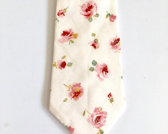 SHIPS IMMEDIATELY, blush, pink, Tie, Liberty of London, floral, Groomsmen, necktie, tie, floral print, wedding