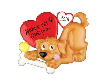 Doggy Love Personalized Christmas Ornament / Dog / Puppy / Fur Baby / Hand Personalized with name or message
