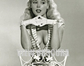 Vintage Pin Up Model Betty Brosmer - Black and White Photograph - Playboy - Pin Up