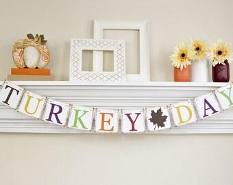 Thanksgiving Decor, Turkey Day, Happy Thanksgiving Banner, Gobble Gobble, Thanksgiving Decoration, Turkey Dinner, Fall Banner