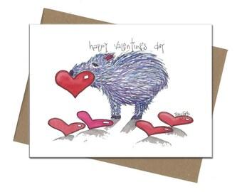 Southwest Javelina Hearts | Valentine Card