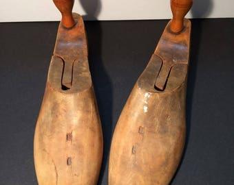 Vintage Wooden Shoe Size 9   1890's to 1900's Original