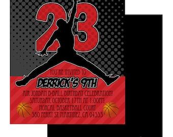 5X7 Air Jordan Invitation - You Print- Jumpman Invite   Air Jordan Party   Air Jordan Theme   Chicago Bulls   Baby Shower   Birthday Party