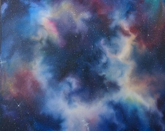 "Galactic Oil Painting 16""X16"""