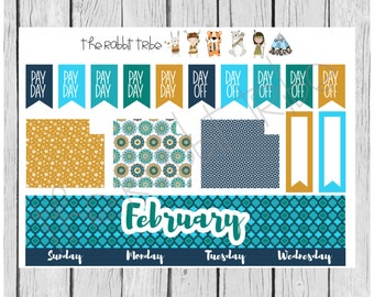 Freestyle Planning - February Monthly Kit - planner stickers