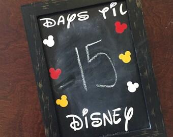 Disney Countdown Chalkboard