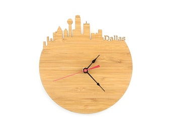 Clock - Dallas Skyline - Texas