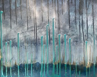 Beyond The Sky mixed media by Maxine Orange