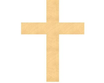 Wooden Cross Sign Wood Cutouts - Large Sizes up to 35 Inches - for Projects or Other Use