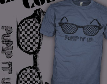 Elvis Costello Shirt - New York New Wave - Indie Punk Rock - Checkerboard Glasses T-Shirt