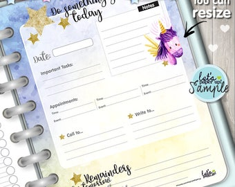 60%OFF - Unicorn Planner, Printable Planner, Daily Planner, Organizer Notebook, Agenda, Planner Pages, Daily Schedule, Day Planner