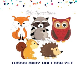 Woodland Baby Shower | Woodland decorations | Woodland animal balloons |  Woodland Animal Party | Woodland Animal Theme | Woodland Birthday