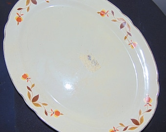 Vintage Jewel Tea Autumn Leaf Oval Serving Platter
