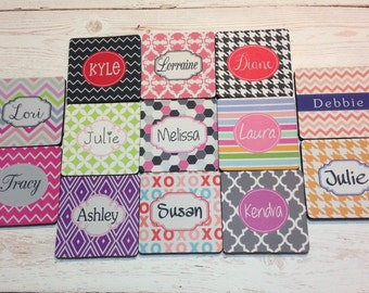 24 personalized coasters for home or party, favor gifts, wedding, birthday