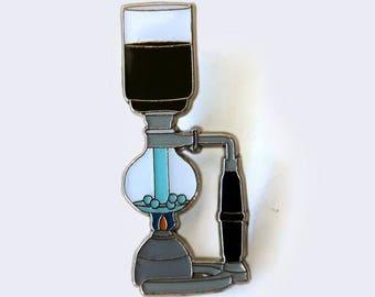 Siphon Coffee Enamel Pin
