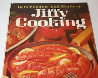 Vintage Better Homes and Gardens Jiffy Cooking Cookbook