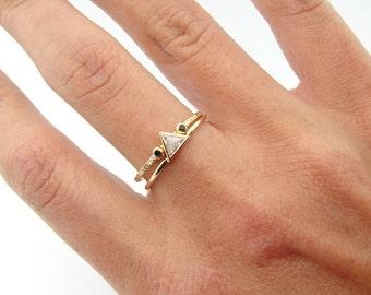 Trillion Wedding Set Wedding Ring Set Trillion Diamond Ring