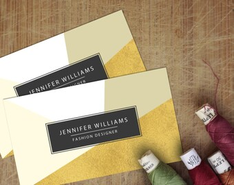 Modern Geometric Style Business Cards Template  [PSD | INSTANT DOWNLOAD]