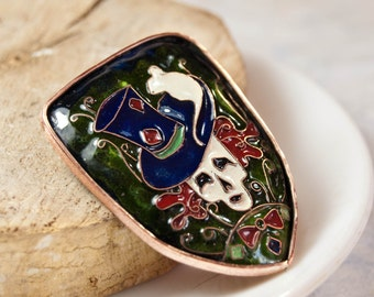 Hatter Enameled Brooch