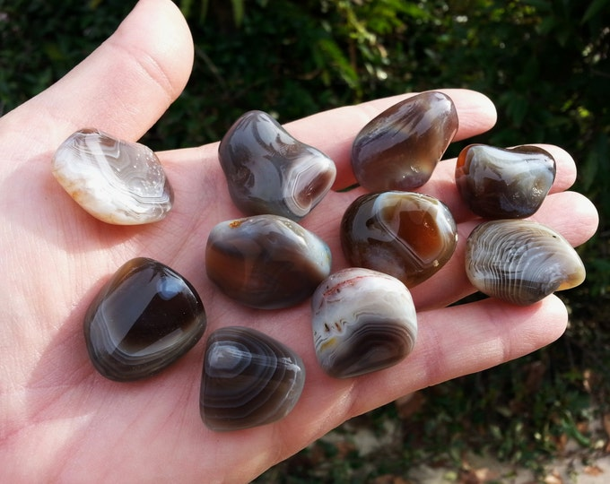 Botswana Agate ~ 1 medium Reiki infused crystal