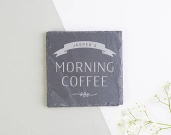 Personalised Morning Coffee Coaster Gift