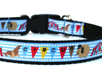 "Fun Dog Collar 5/8"" or 3/4"" Circus Dog Collar"