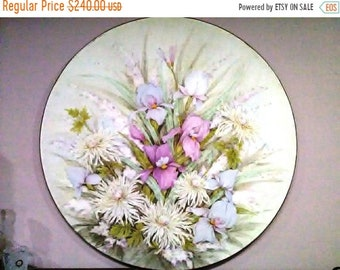 PICTURE WALL  Hand-painted thick oil or acrylic colors nice pictures of flowers,
