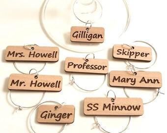 Gilligan's Island - Wine Glass Charms