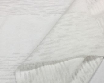 Cotton Blend Burnout Jersey Knit Fabric (Wholesale Price Available By the Bolt) USA Made Premium Quality - 2540PC - 1 Yard