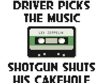 Supernatural Shirt Driver Picks The Music Shotgun Shuts His