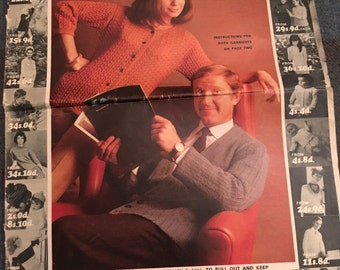Vintage 1960s Knitting Booklet- 20 Patterns- Variety of styles for all the family!-GC